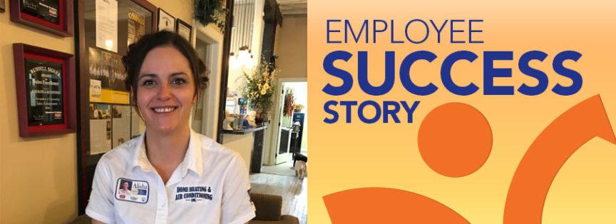 employee success story alisha garner of home heating air